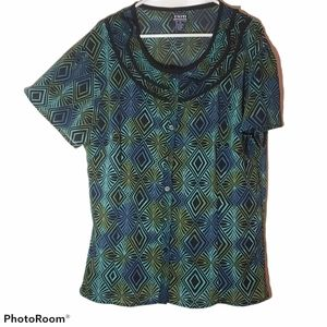 Women's plus size 2x multi colored blouse